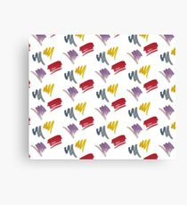 brush doodle small pattern  Canvas Print