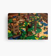 Minecraft Legos Metal Print