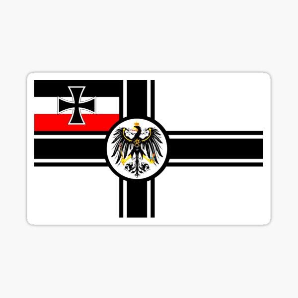 IMPERIAL WAR FLAG GERMANY 1903-1919 GERMAN NAVY FLAG  Sticker