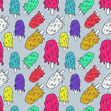 "Ice cream pattern (""mltng"") by bd0m"