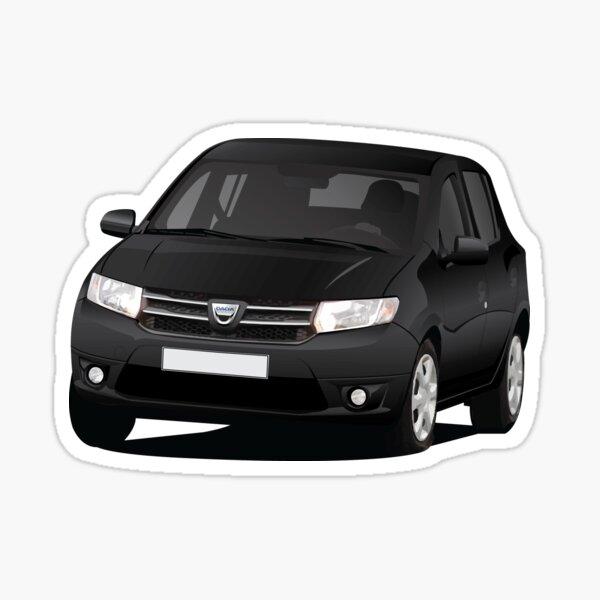 Dacia Sandero - black - illustration Sticker