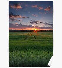Sunset at home - Wexford Ireland Poster