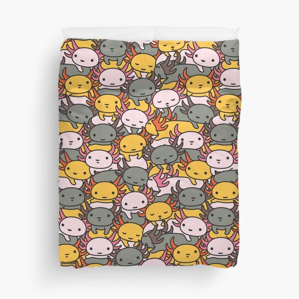 AXOLOTL WAVE Style 2 - We are the CUTEST CREATURE in the Water World Duvet Cover