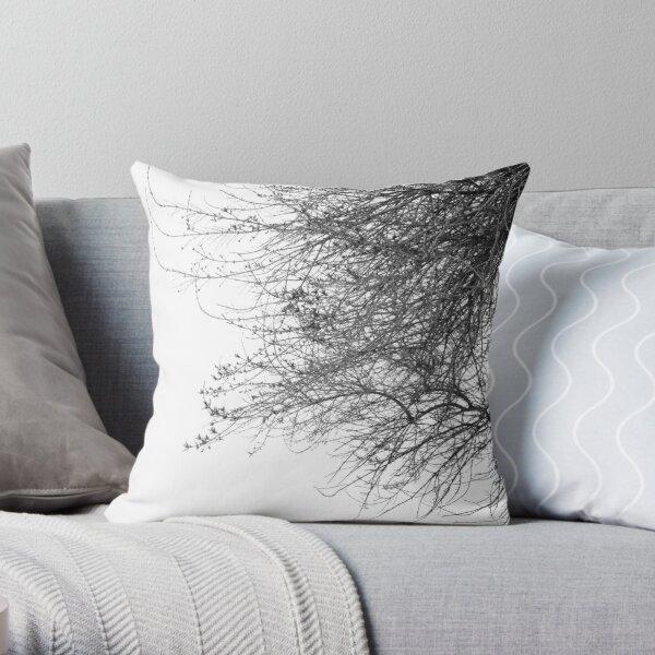 Bleak Branches Throw Pillow