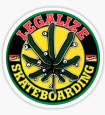 Legalize Skateboarding Sticker
