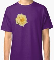 Yellow Rose on Purple Classic T-Shirt