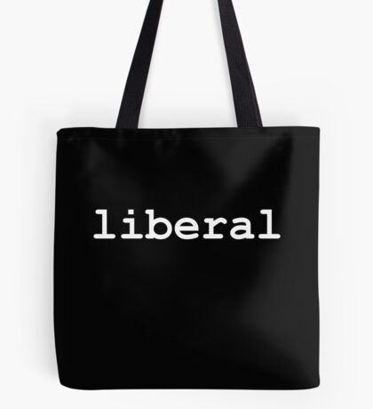 Liberal (White) Tote Bag