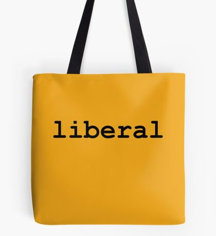 Liberal (Black) Tote Bag