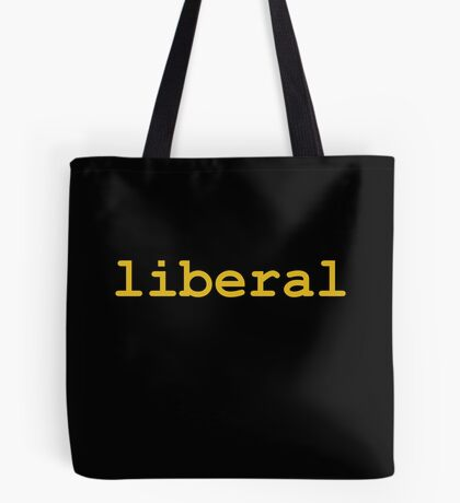 Liberal (Orange) Tote Bag