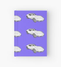 1975 Corvette Stingray Muscle Car Illustration Hardcover Journal