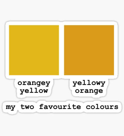My Two Favourite Colours Sticker