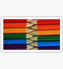Colored Pencil Patterns Sticker