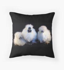 Silkie Trio Throw Pillow