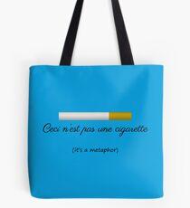 Ceci n'est pas une cigarette Tote Bag