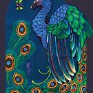 peacock t-shirt, art nouveau by resonanteye