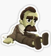 Glitch miscellaneousness doll nietzsche Sticker