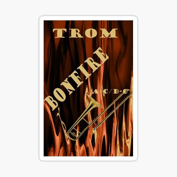 Trombon trombonfire bonfire album de rock favorito para músicos Pegatina
