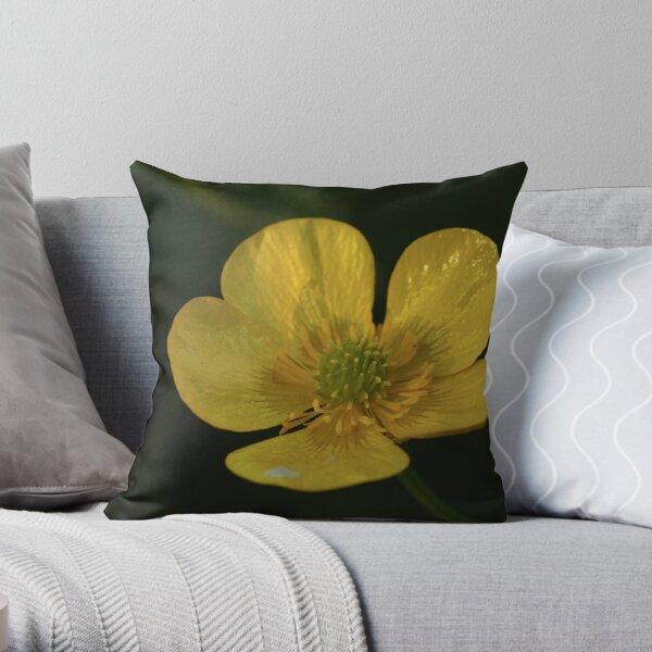 Evening Buttercup Throw Pillow