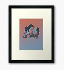 Mega Swampert Framed Print