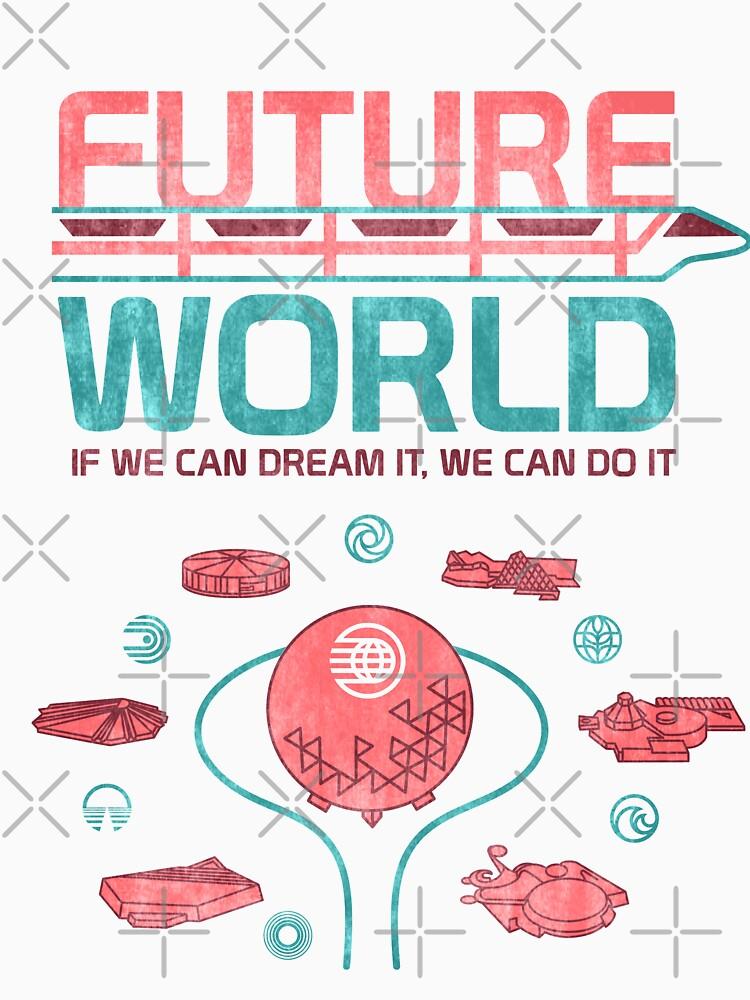 Zukünftige Weltkarte von retrocot