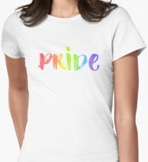 Pride. LGBT parade typography. Womens Fitted T-Shirt