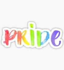 Pride. LGBT parade typography. Sticker