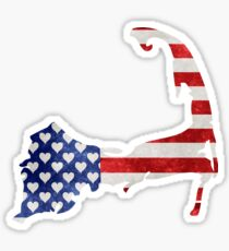Cape Cod Patriotic Sticker