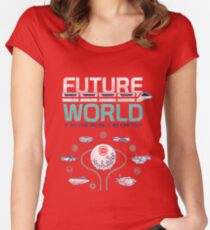Vintage EPCOT Center Future World Map Women's Fitted Scoop T-Shirt