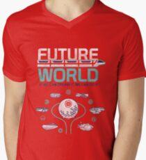 Vintage EPCOT Center Future World Map Men's V-Neck T-Shirt