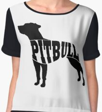 Pitbull black Women's Chiffon Top