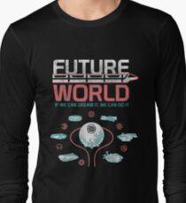 1982 EPCOT Center Future World Map Long Sleeve T-Shirt