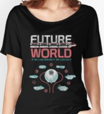 1982 EPCOT Center Future World Map Women's Relaxed Fit T-Shirt