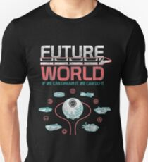 1982 EPCOT Center Future World Map T-Shirt