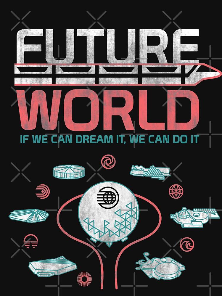 TShirtGifter presents: 1982 EPCOT Center Future World Map   Unisex T-Shirt