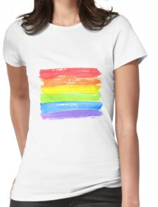 LGBT parade flag, gay pride symbol Womens Fitted T-Shirt