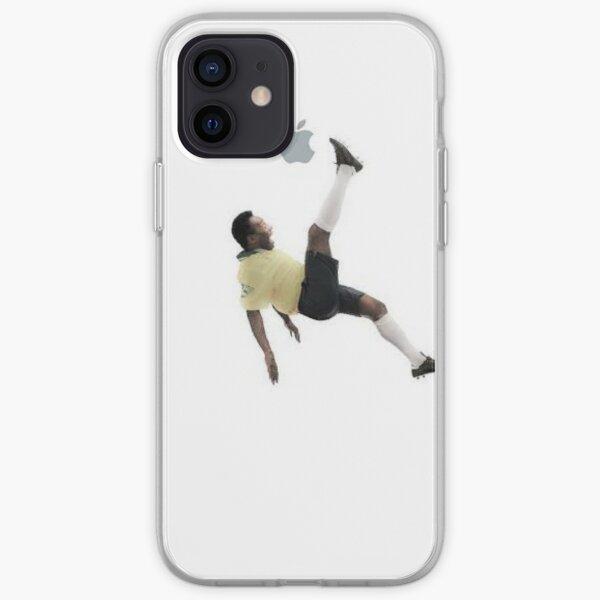 Pele kicking an Apple iPhone Soft Case