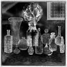 Antique Bottles & Lace - Gothic Decorations by anankeblue