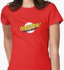 Dogecoin - Bazinga!  Women's Fitted T-Shirt