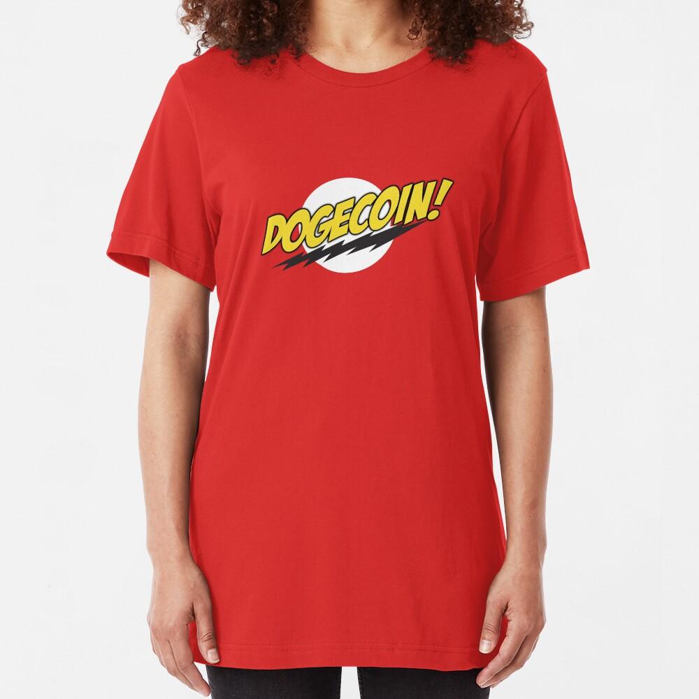 Dogecoin - Bazinga!  Slim Fit T-Shirt