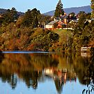 Reflections in the Derwent River by Christine Smith