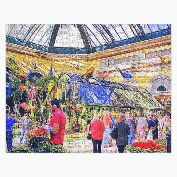 Bellagio Botanical Gardens at Spring Jigsaw Puzzle