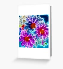 Sci-fi Flowers Greeting Card