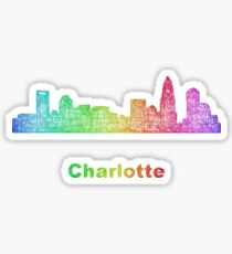 Rainbow Charlotte skyline Sticker