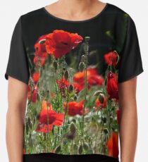 Red Poppies 001.1 (Rote Mohnblumen) Chiffontop
