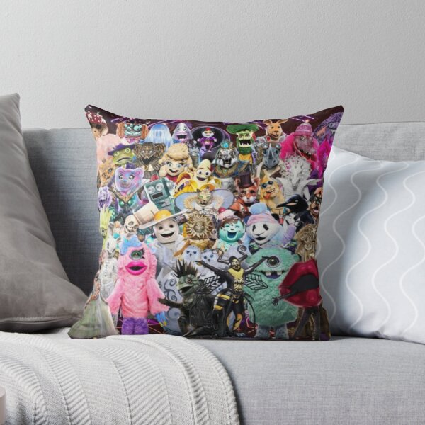 The Masked Singer US Every Characters  Throw Pillow