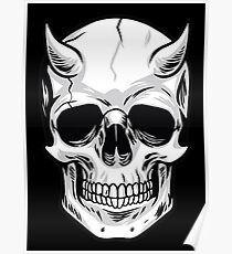 Demon Head Skull  Poster