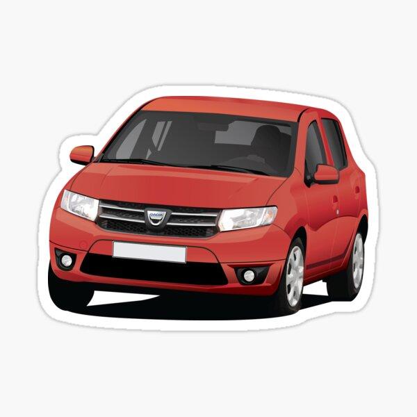 Dacia Sandero - illustration - red Sticker