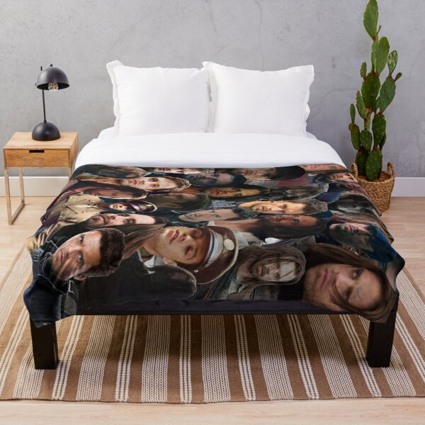Winter Soldier Photo Collage Throw Blanket