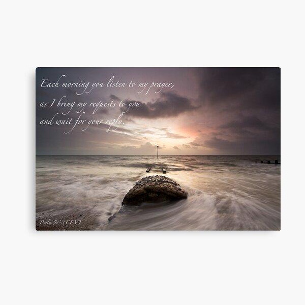 Psalm 5:3  Canvas Print