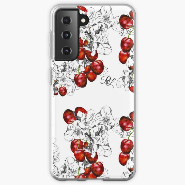 Cherry Blossoms and Cherries Samsung Galaxy Soft Case